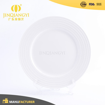 Top Grade Promotional restaurant ceramic round bulk plate white porcelain