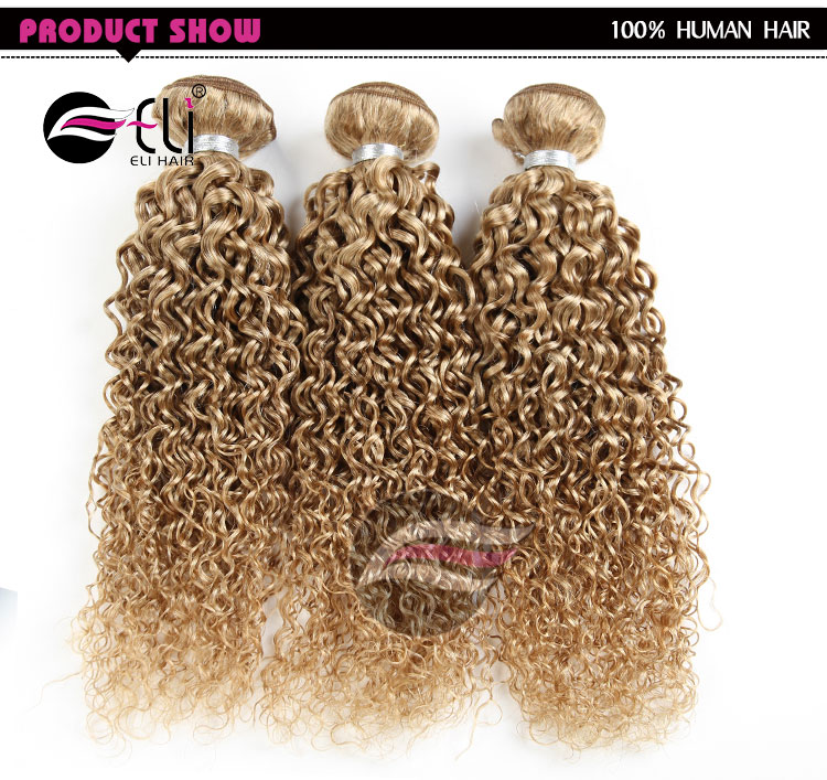 Original Brazilian Human Hair Weaves Janet Collection Curly Blonde