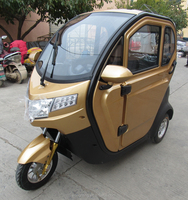 BRI-S00 close body three wheel electric tricycle with passenger seat