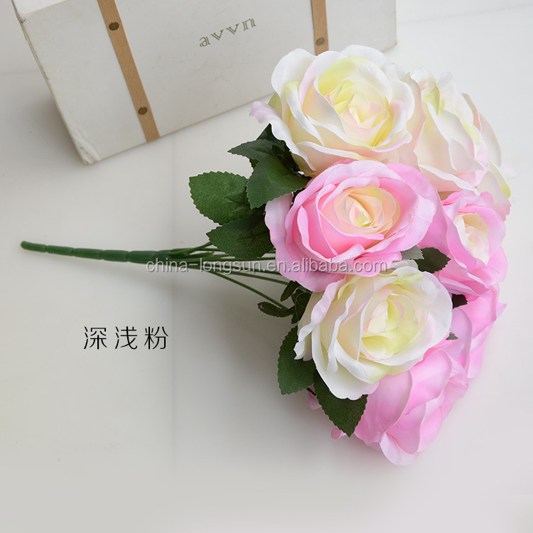 LSD-1609081498 10 Flowers/Bunch PU Tulip Artificial Flowers High Simulation Plants Festive Home Party Decoration