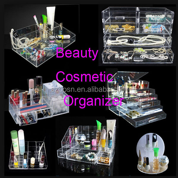 Transparent Acrylic Storage Box & Cases, Perspex Make Up Storage Box, Acrylic Jewelry Box