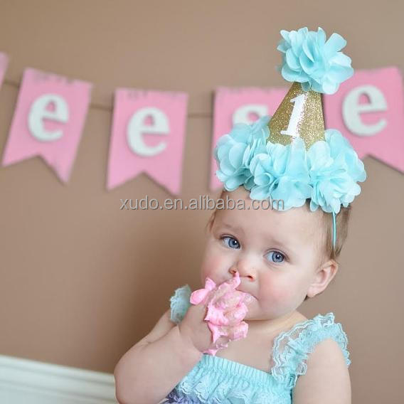 free shipping baby birthday crown <strong>headband</strong> in stock