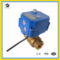 CWX-25S 2 way electric control brass ball valve with manual function for water treatment
