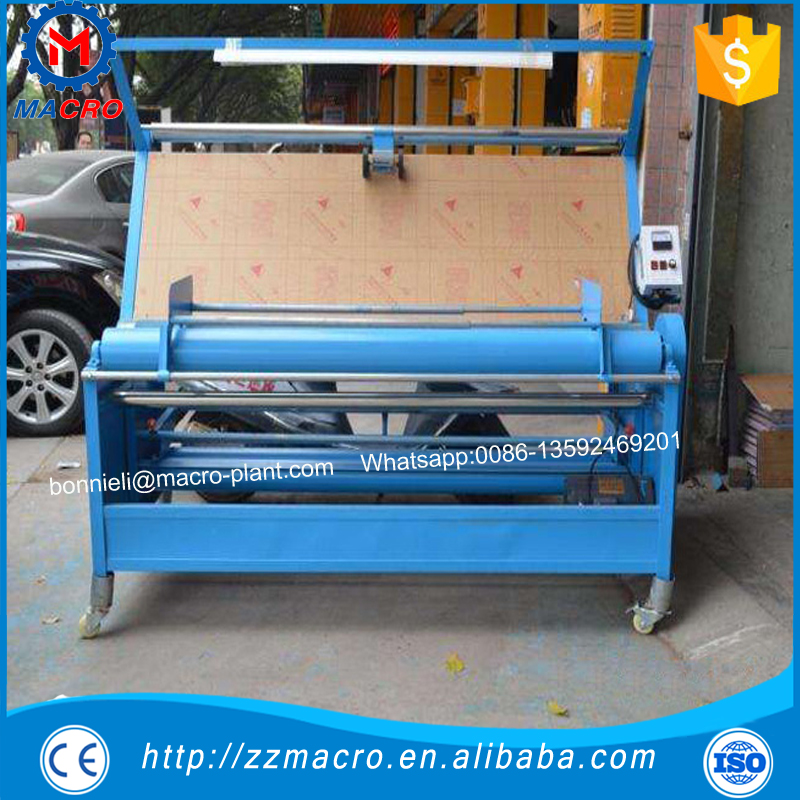 fabric quilting rolling machine/fabric meter counter/fabric rolling