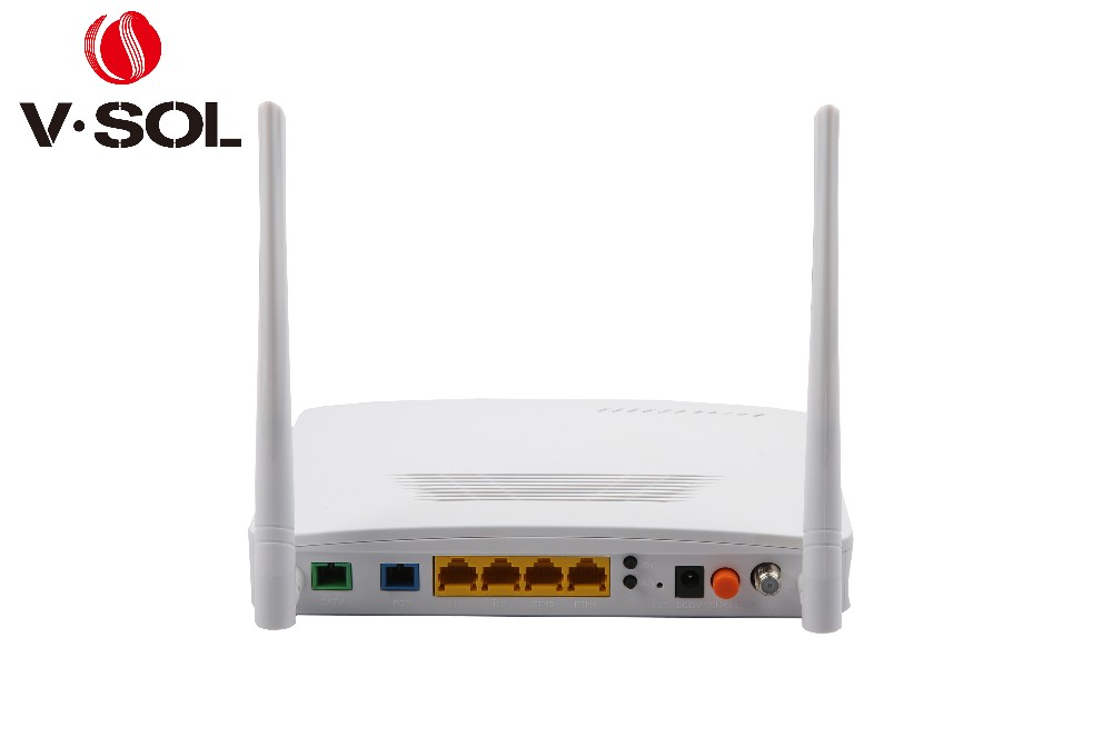WIFI ONT fiber optical network GPON ONT 4GE+WIFI+RF(CATV) support PPPOE