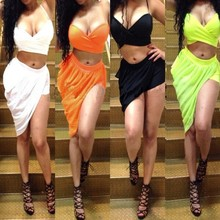 F20108A New western style girl party wear bandage dress two piece jumpsuits for women