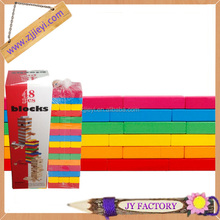 Promotional wooden gift box square building block toys for boys