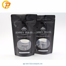 Oval Window Matte And Glossy Surface Tea Bag Packaging