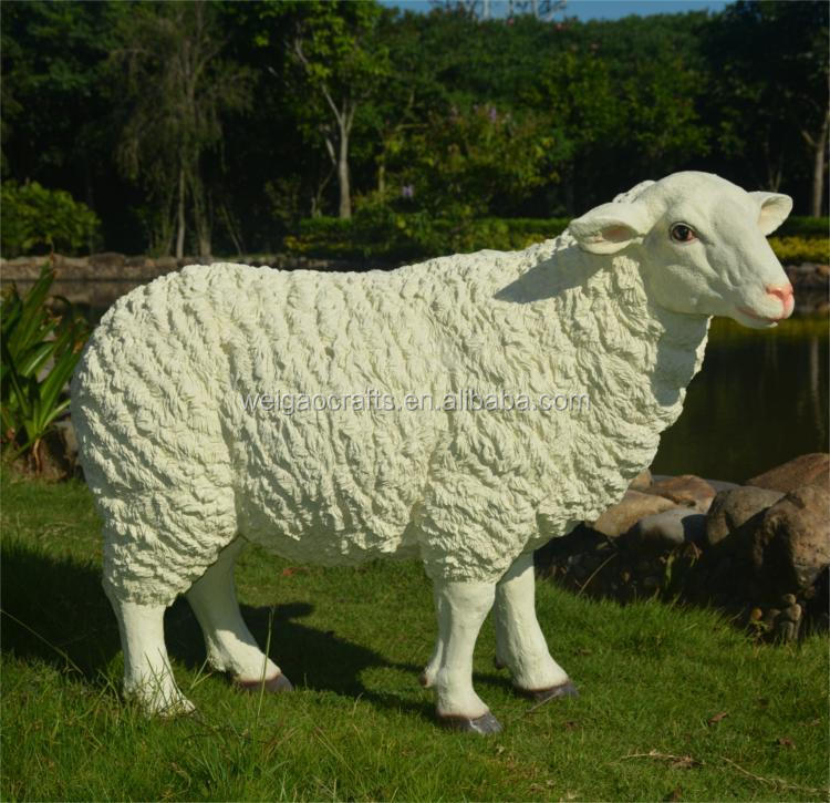 Real life garden statue sheep decoration