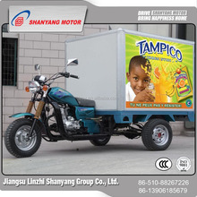 WUXI Original Tricycle Factory Direct Sales Motorized Cargo Tricycle Closed Foldable Cargo Box With Tarpaulin
