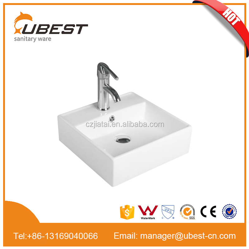 Hot sale square ceramic art basin Chaozhou sanitary ware bathroom A grade quality porcelain sink