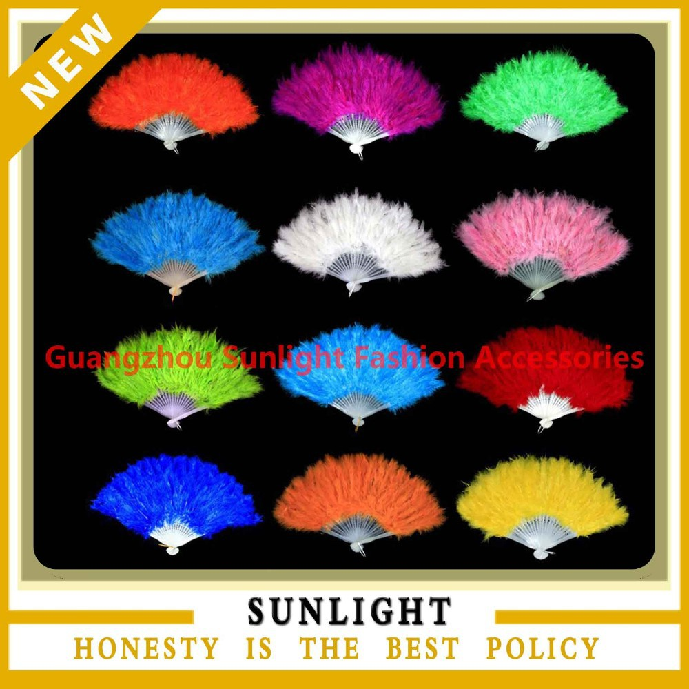 feather decorative hand fan
