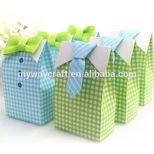 Tie Plaid Dress Wedding Dress Favor Boxes Party Boxes Candy Box - Plaid Dress