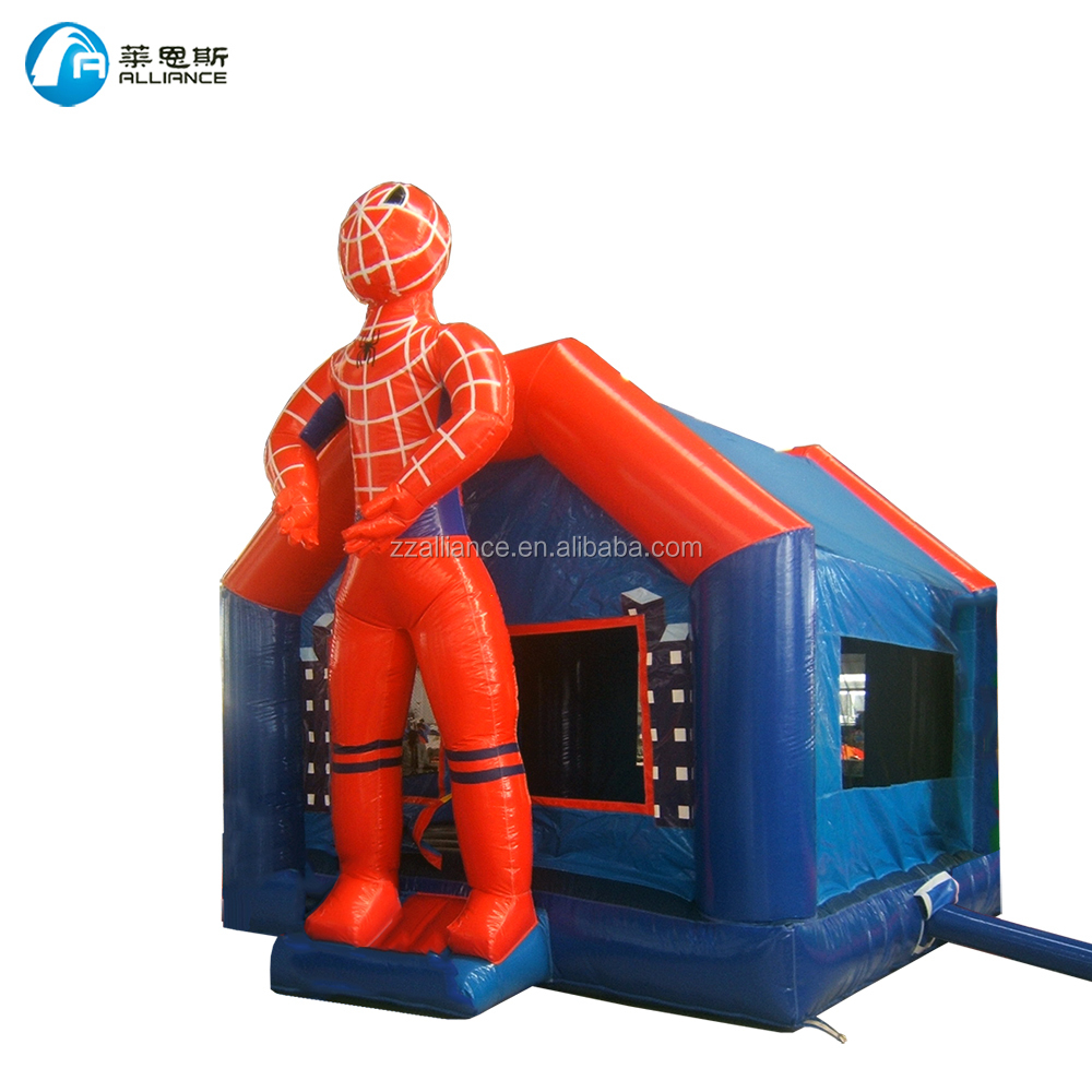 kids playground spiderman inflatable bounce house