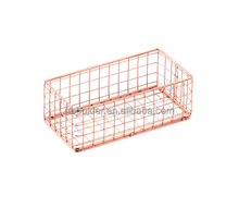 China manufaturer fashion office sets metal wire copper drawer organizer