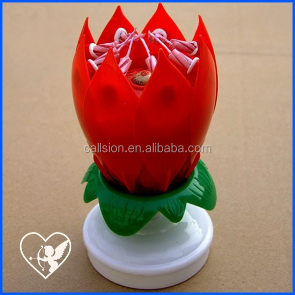 musical lotus rotating happy birthday candle making supplies
