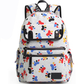 High Quality Multifunction Young School bag Fashion Style Women Vintage Backpack