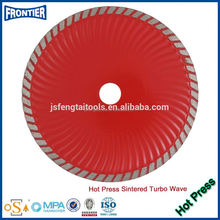 "Hot Press Super Waved Turbo Diamond Cutting Saw Blade/Cutter/Wheel/Disc (4""~9"")"