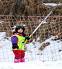 protective nets on snowfiled/snow fence/pe knotted ski field safety protection net