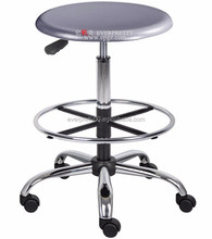 School furniture Lab stool with footrest, Adjustable stainless steel chair