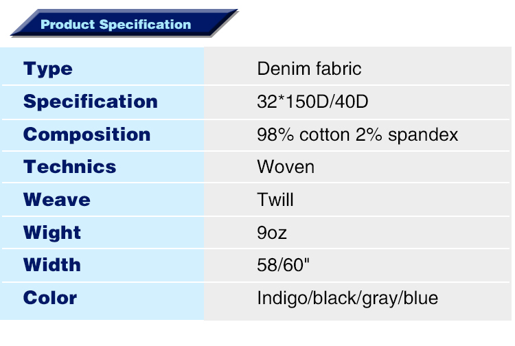 stock tencel cotton spandex blue denim fabric