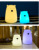 Portable Touch Sensor USB mini Rechargeable Cute Bear Silicone Led Night Light