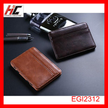 Creative personality money clip magic leather wallet for men wholesale