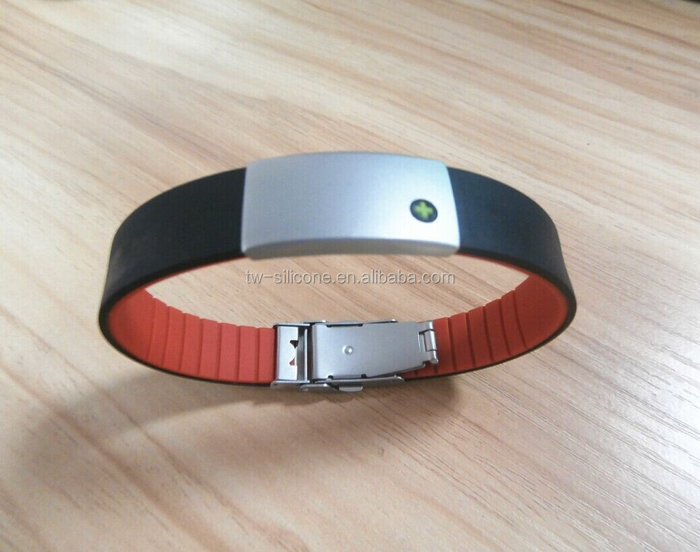 Myid series double color ion bracelet silicon wristband