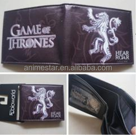 New Styles Game of Thrones Anime Wallet, PU Purse