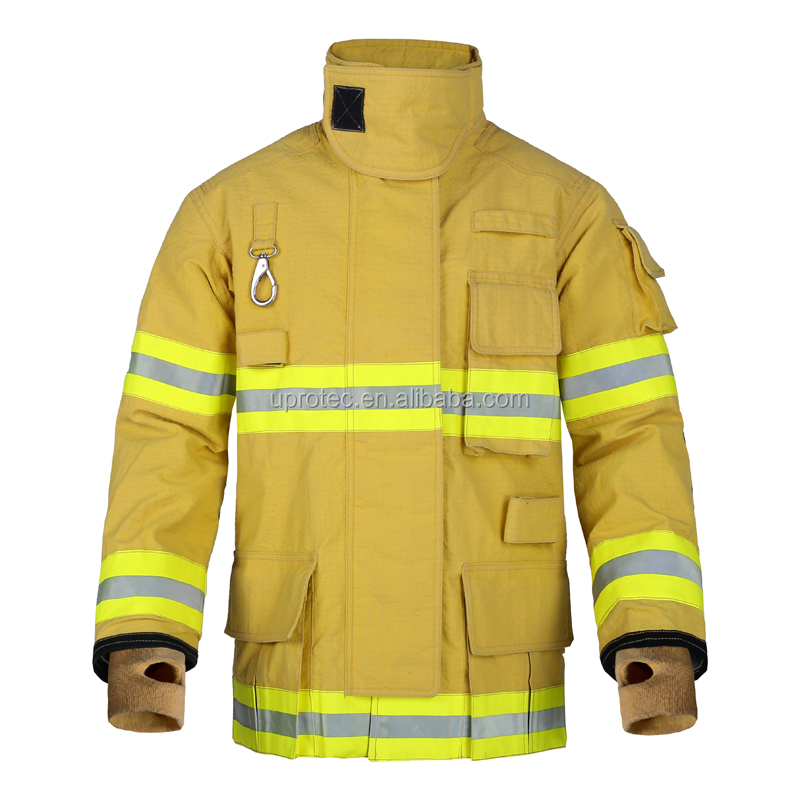 EN469 Yellow PBI Structural Firefighting Suit with 3M Reflective Tapes/ CE Certified PBI Bunker Gear