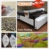 machines for making leather shoes/100W/120W/150W garment/cloth/textile/leather/home fabric auto feeding laser cutting machine