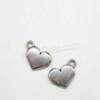 bulk wholesale zinc alloy antique silver color plated heart charm for diy jewelry making
