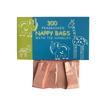 disposable scented plastic baby nappy sacks bag in pack