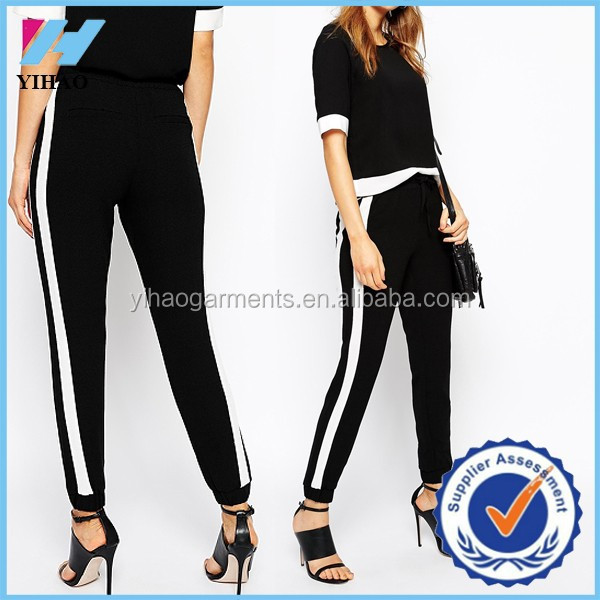Yihao trade assurance Wholesale New fashion Contrast color Relaxed safety Jogger pants