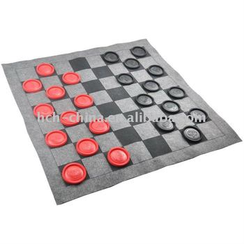 28 X 28 Inch Jumbo Checker Rug Game Jumbo Checker Felt