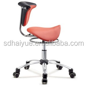 2016 New Red PU/ Leather Ergonomic posture correction leather saddle chair, Leather Saddle Stool For Office Use