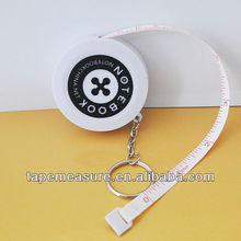 100cm/39inch small round 100cm keyring measuring ruler abs promotional item china with company logo and name