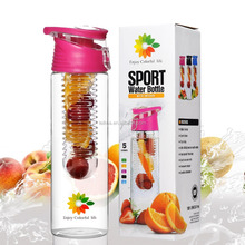 Tritan Fruit Infuser Water Bottle For Juice, Iced Tea, Lemonade and Sparkling Beverages