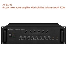 AP-6A500 500W 6-zone mixer amplifier with zone volume control