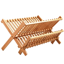 100% wooden bamboo kitchen unique dish rack