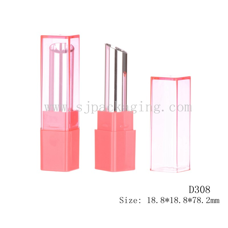 pink makeup sets cosmetic square packaging magic lipstick plastic empty lipstick tube