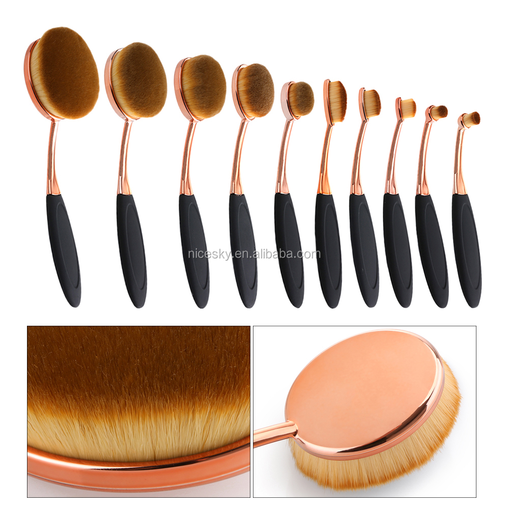 10pcs makeup brush set professional make up beauty brush foundation contour powder cosmetic brush makeup set