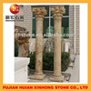 Decorative natural outdoor marble carving stone column