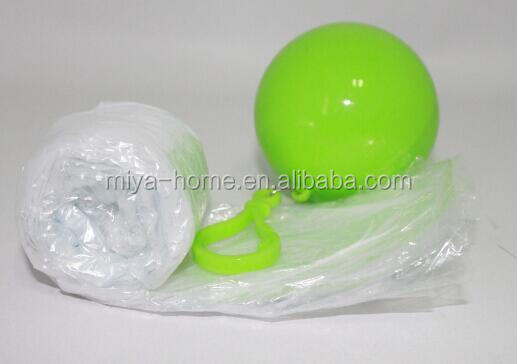 New arrival ball design emergency raincoat / folding disposable raincoat