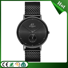 Black wrist titanium watch factory guangzhou japanese battery men watch with your company logo