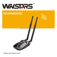 wireless 300Mbps usb 2.0 wifi adapter with 2 x detachable omni antennas