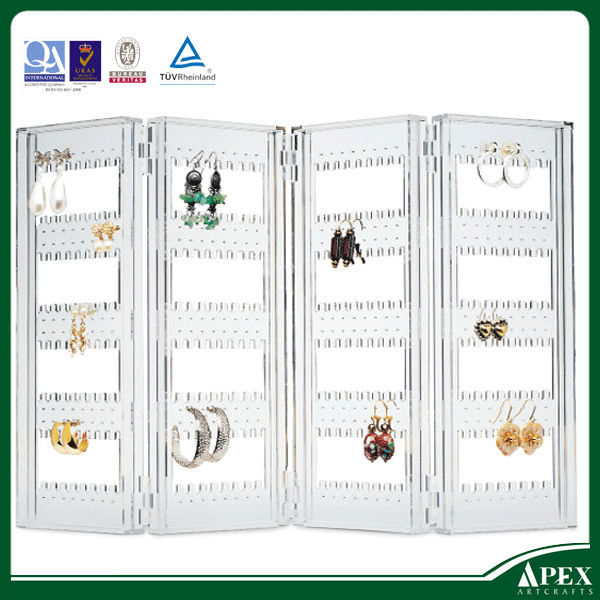 New products 2014 acrylic earrings organizer