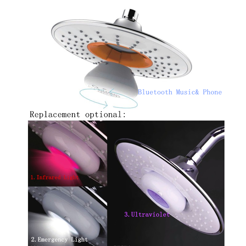 Replacement Part: Bluetooth,Infrared,Ultraviolet,or LED Emergency Light for Music& Phone Showerhead