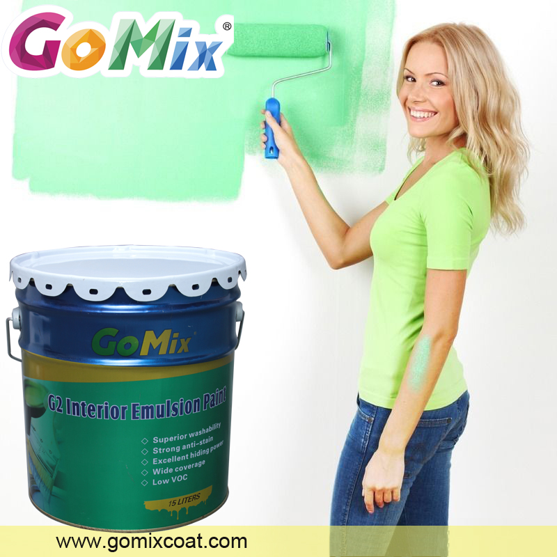 Low odor scrub resistant semi gloss water based interior emulsion acrylic paint