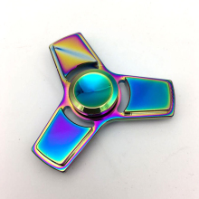 Rainbow All Hand Spinner Tri Fidget Focus Toy EDC Finger Spin Gyro ADHD Autism